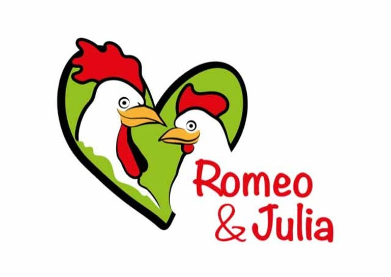 Romeo Julia roter Schriftzug